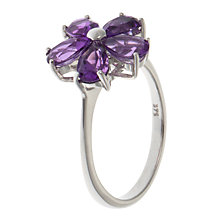 Buy A B Davis 9ct White Gold Daisy Ring Online at johnlewis.com