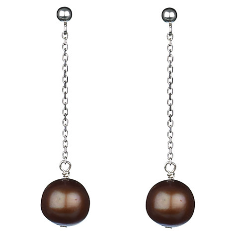 Buy A B  Davis 9ct White Gold Elizabeth Freshwater Pearl Drop Earrings Online at johnlewis.com