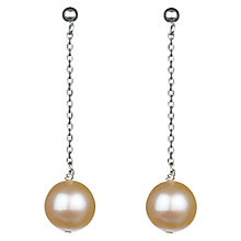 Buy A B Davis 9ct Gold Elizabeth Freshwater Pearl Drop Earrings Online at johnlewis.com