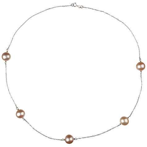 Buy Elizabeth Freshwater Pearl Necklace, Pink Online at johnlewis.com