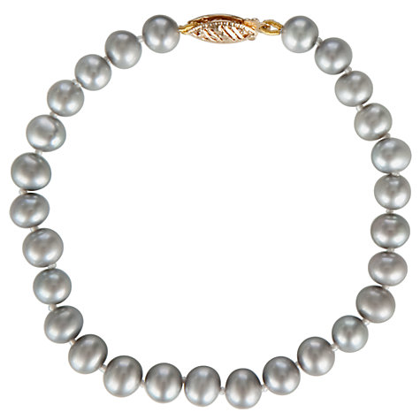 Buy 9ct Freshwater Pearl Bracelet, Silver Grey Online at johnlewis.com