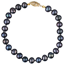 Buy Freshwater Pearl Bracelet, Black Online at johnlewis.com