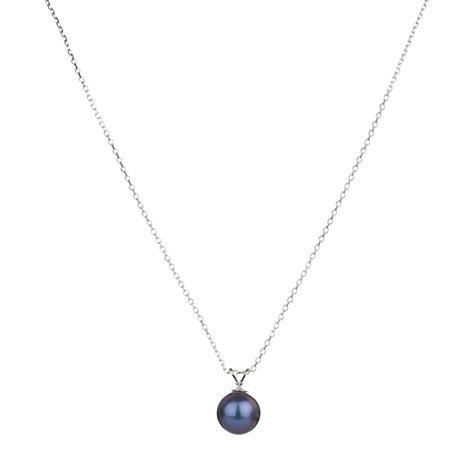 Buy A B Davies Freshwater Pearl Pendant Necklace, Black Online at johnlewis.com