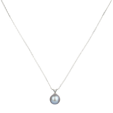 Buy A B Davis 9ct White Gold Freshwater Pearl Pendant Necklace Online at johnlewis.com