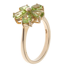 Buy A B Davis 9ct Yellow Gold Peridot Daisy Ring Online at johnlewis.com