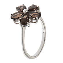Buy A B Davis 9ct Gold Smoky Quartz Daisy Ring Online at johnlewis.com
