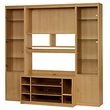 Buy John Lewis Agatha Media Unit and Doors Combination for TVs up to 47-inch, Oak Online at johnlewis.com