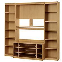 "Buy John Lewis Agatha Media Unit Combination for up to 47"" TVs, Oak Online at johnlewis.com"