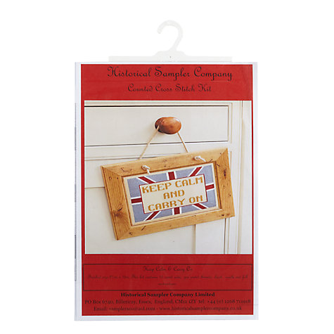 Buy The Historical Sampler Company Keep Calm and Carry On Cross-Stitch Kit Online at johnlewis.com