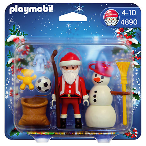 Buy Playmobil Father Christmas & Snowman Online at johnlewis.com
