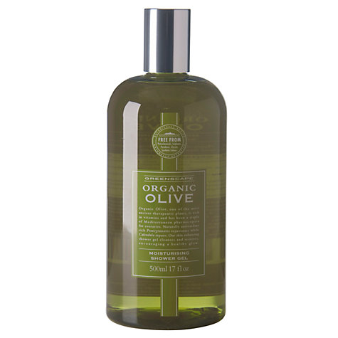 Buy Greenscape Organic Olive Oil Shower Gel, 500ml Online at johnlewis.com