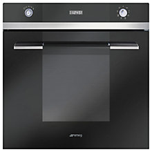 Buy Smeg SFP110N Single Electric Oven, Black and Smeg P1640X Gas Hob, Stainless Steel Save £50 Online at johnlewis.com