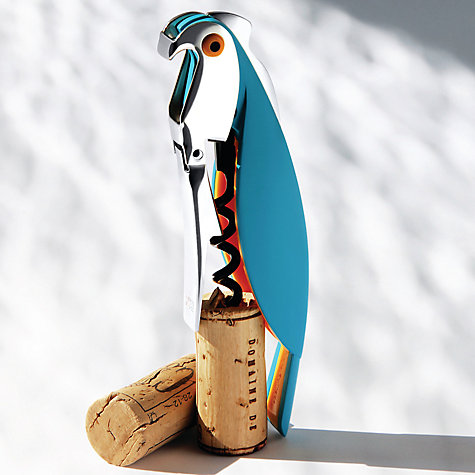 Buy Alessi Parrot Sommelier Corkscrew, Blue Online at johnlewis.com