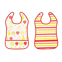 Buy John Lewis Fruits Peva Bibs, Pack of 2, Multi Online at johnlewis.com
