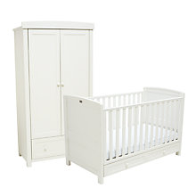 Buy Silver Cross Nostalgia Cotbed and Wardrobe Set, Antique White Online at johnlewis.com