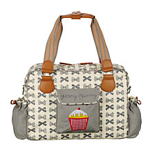 Buy Pink Lining Yummy Mummy Bows Changing Bag, Grey Online at johnlewis.com