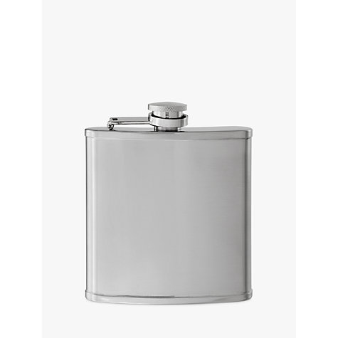 Buy John Lewis Stainless Steel Hip Flask Online at johnlewis.com