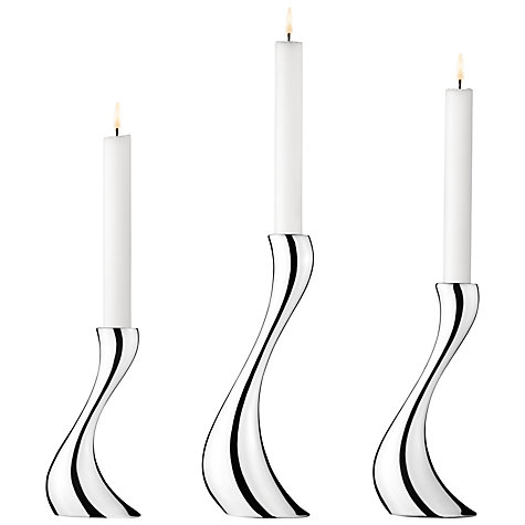 Buy Georg Jensen Cobra Candlesticks, Set of 3 Online at johnlewis.com