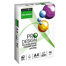 Buy Pro-Design A4 Colour Laser Printer Paper, 500 Sheets Online at johnlewis.com