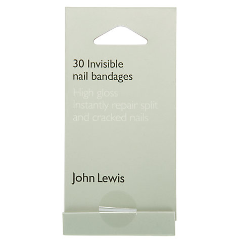 Buy John Lewis Invisble Nail Bandages x 30 Online at johnlewis.com