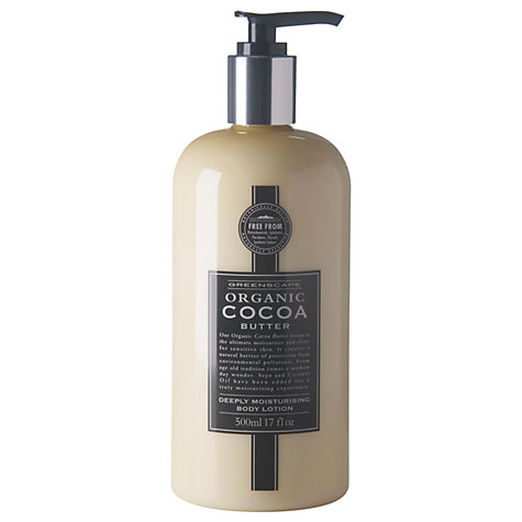 Buy Greenscape Organic Cocoa Deeply Moisturising Body Lotion, 500ml Online at johnlewis.com
