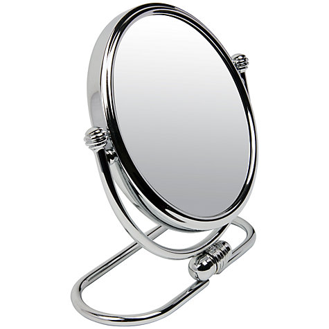 Buy John Lewis 3x Magnification Folding Base Mirror, Chrome Online at johnlewis.com