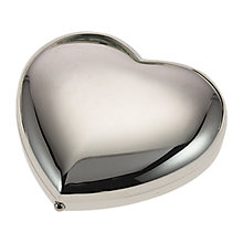 Buy John Lewis 2x Magnification Heart Compact Mirror, Silver Finish Online at johnlewis.com