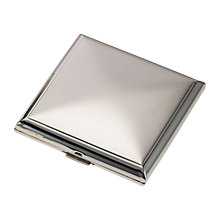 Buy John Lewis 2x Magnification Square Compact Mirror, Silver Finish Online at johnlewis.com