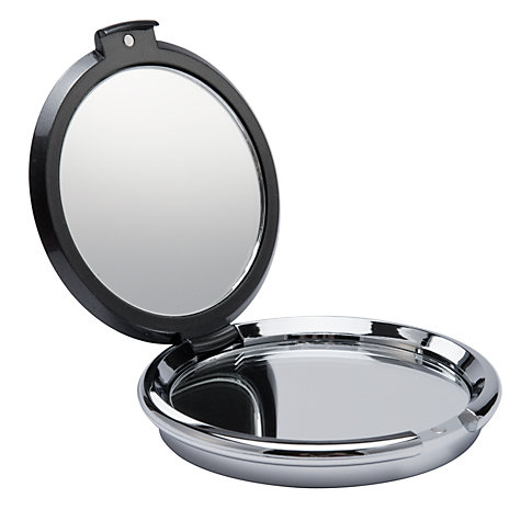 Buy Diamante Embellished Compact Mirror, Gunmetal Online at johnlewis.com