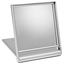 Buy John Lewis 3x Magnification Silver Finish Square Folding Mirror Online at johnlewis.com