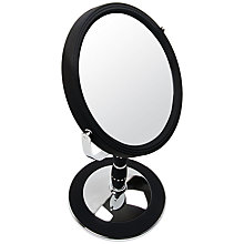 Buy John Lewis Black Rubberised Standing Mirror Online at johnlewis.com