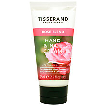 Buy Tisserand Rose Hand and Nail Cream, 75ml Online at johnlewis.com