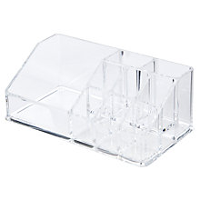 Buy Small Clear Acrylic Cosmetics Organiser Online at johnlewis.com