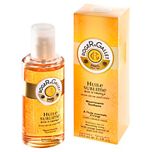 Buy Roger & Gallet Bois d'Orange Huile Sublime Body Oil Spray, 100ml Online at johnlewis.com