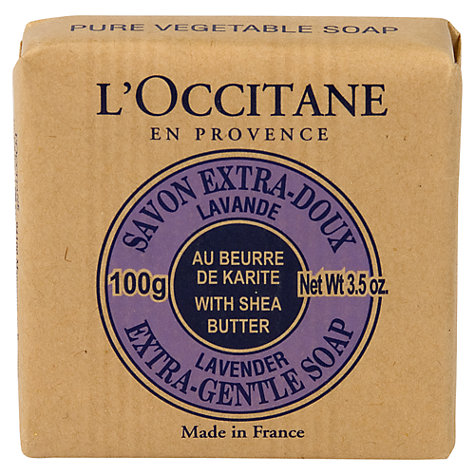 Buy L'Occitane Extra-Gentle Lavender Soap, 100g Online at johnlewis.com