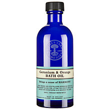 Buy Neals Yard Geranium & Orange Bath Oil, 100ml Online at johnlewis.com