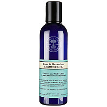 Buy Neals Yard Rose and Geranium Bath and Shower Gel, 200ml Online at johnlewis.com