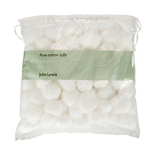 Buy John Lewis Cotton Balls 100 Online at johnlewis.com