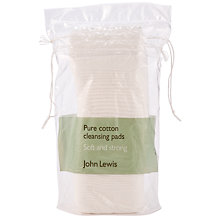 Buy John Lewis Pure Cotton Cleansing Pads x 50 Online at johnlewis.com