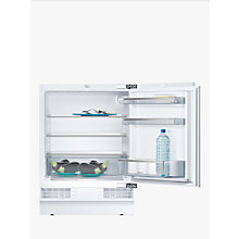 Buy Neff K4316X7GB Built Under Larder Fridge, A+ Energy Rating, 60cm Wide, White Online at johnlewis.com