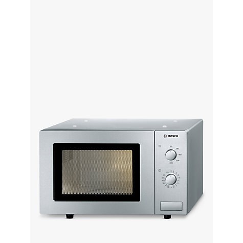 Buy Bosch HMT72M450B Microwave Oven, Brushed Steel Online at johnlewis.com