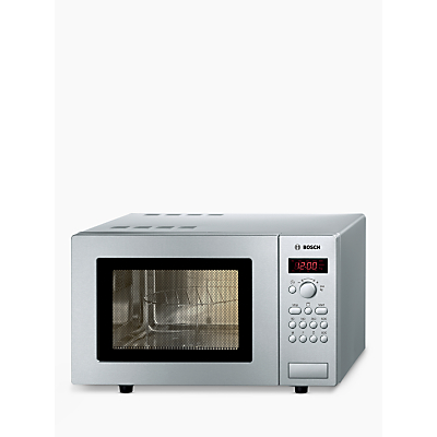 Countertop Pizza Oven Uk : John Lewis Bosch HMT75G451B Microwave with Grill, Silver