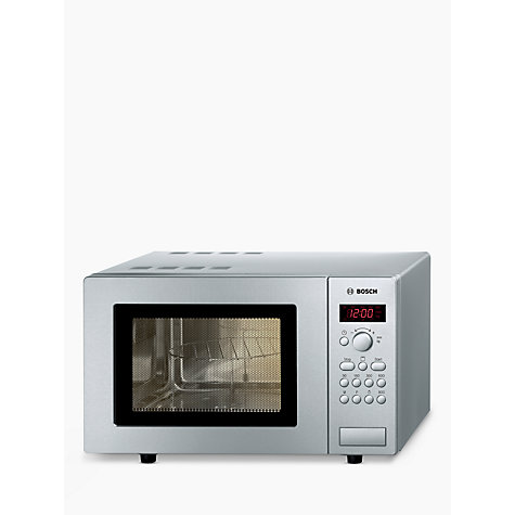 Buy Bosch HMT75G451B Microwave with Grill, Silver Online at johnlewis.com