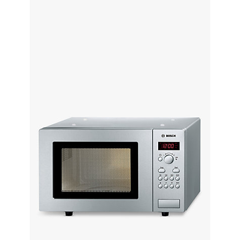 Buy Bosch HMT75M451B Microwave Oven, Brushed Steel Online at johnlewis.com