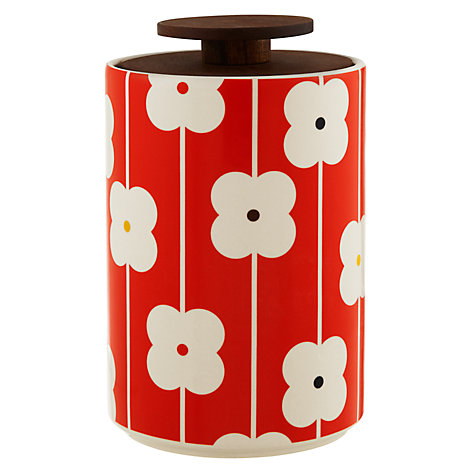 Buy Orla Kiely Red Abacus Flower Storage Jar, 2L Online at johnlewis.com