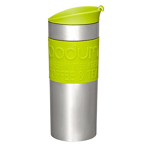 Buy Bodum Travel Press Coffee Mug, Lime Online at johnlewis.com