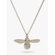 Buy Alex Monroe Baby Bee Pendant Neckace, Silver Online at johnlewis.com