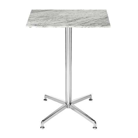 Buy HND Brigitte Marble Bar Table, Carrara, H93.5 x W60 x D60cm Online at johnlewis.com