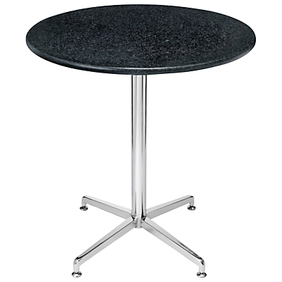 HND Brigitte Granite Dining Table, Nero Bon Accord, H75.5 x Dia.70cm