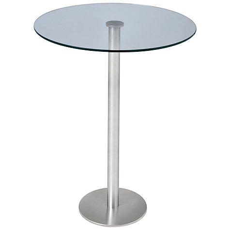 Buy HND Ingrid Glass Bar Table, L70 x W70cm Online at johnlewis.com